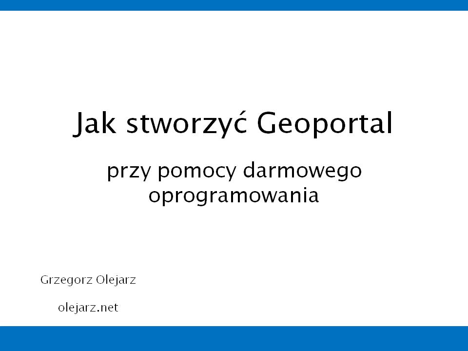 jakStworzycGeoportal